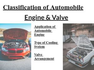 Classification of Automobile Engine