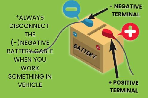 remove negative terminal while service
