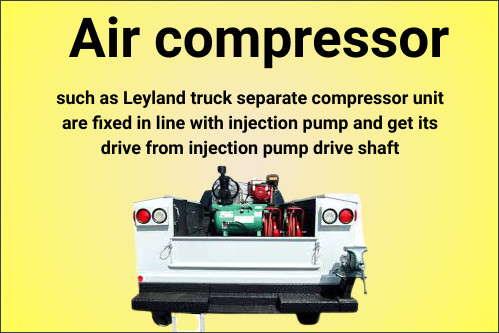 Air compressor automobile-optional-fittings (AOF)