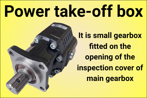 Power take-off box automobile-optional-fittings (AOF)