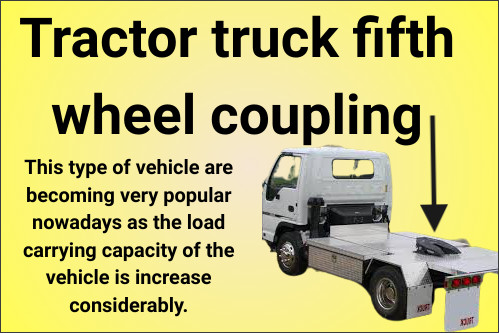 Tractor truck fifth wheel coupling automobile-optional-fittings (AOF)